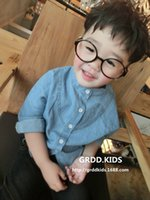 Wholesale 2016New arrival children Clothing boy buttons roundneck pocket long sleeve solid color coat0t t