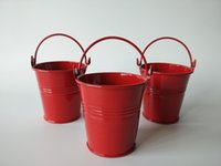 baby planter - 7 CM bonsai bacony Flowerpots Mini Planter pure garden bucket metal seed buckets Red planter and pot baby shower favors