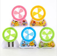 Wholesale Lovely Poke double sharpener colors windmill Pencil sharpeners students stationery supplies