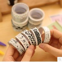 Wholesale South Korea stationery DIY decorative black tape lace tape tape m cartoon character
