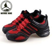 al por mayor jazz zapato suave-Al por mayor [Naturalhome] Zapatos de baile Marca modernos zapatos de baile de jazz Deportes Característica suave Suela Breath las zapatillas de deporte de los zapatos de la mujer la práctica