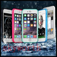 Cheap 100% Sealed Waterproof Water Resistant Full Body Screen Protect Soft TPU Gel Front & Back Case For iPhone 6 6s Plus