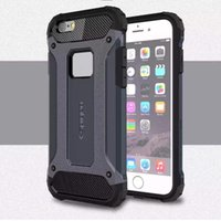 Wholesale Dual Layer Shock Proof Tough Armor Hybrid PC Rubber Hard Case Cover for iPhone SE S S Plus Samsung Galaxy S7 edge S6 S5 A9 A310 A510