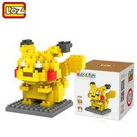 Wholesale LOZ Diamond Blocks Pikachu particles Building Blocks Sets Anime Figures Bricks Kids Toys Brick Toys Pokemons Action Figures Toys
