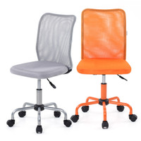 Wholesale IKAYAA Fashion Ergonomic Mesh Office Executive Chair Stool Adjustable Heavy Duty Computer Task Chair Office Furniture US STOCK H16674