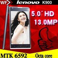 Precio de Lenovo k900-Original NUEVO <b>LENOVO k900</b> T WCDMA 2GB RAM 5.0 '' IPS MTK6592 Octa Core teléfono móvil 16GB ROM 13mp Cámara Android 4.4 teléfono inteligente dual SIM
