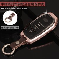 Wholesale TOYOTA Car Key Cover Camry Key Cases Aluminum Alloy Key Shell for Ralink Highlander Corolla with Top Quality