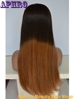 Wholesale Stock Human Hair Ombre Black To Brown Lace Front Wigs With Baby Hair inches Density Unprocessed Virgin Brazilian Hair Lace Wig