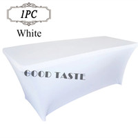 Wholesale 2016 Big Promtion Polyester Stretch Elastic Lycra Table Cover of Wedding Banquet Decorative Event Party Supply Spandex Table Cloth