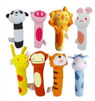 bibi kids - 2016 Hottest Kids Toys Lion and Monckey Bibi Stick Baby rattle Plush Animal Stick Hand Puppets Educational Toys For Kids S20
