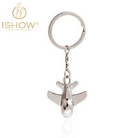 aircraft keychains - Fashion key chains cubre llaves llavero gift jewelry new keychain porte clef fourrure aircraft key chain chave key rings