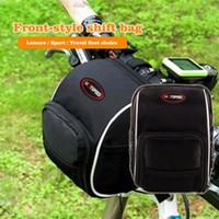 Unisex baseball seating - Rainproof front pack Skateboards car package Folding handlebar bag Balanced car leading package Mountain Bike Back Seat Bicycle Rear Bag