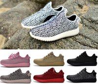 Wholesale High Q Kanye West Boost Mens Womens Walking Shoes Luxury Brand Unisex Casual Shoes New Fashion Outdoor Sport Jogging Shoes