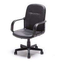 Wholesale New Modern Office Executive Chair PU Leather Computer Desk Task Hydraulic Black