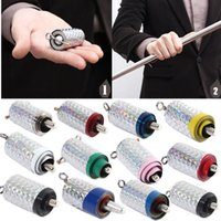 Wholesale New Professional Cane Metal Silver Magic Tricks Close Up Illusion Silk To Wand Kids Grownups Toy