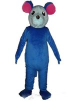 adult mini mouse costumes - With one mini fan inside the head a blue mouse mascot costume for adult to wear for party