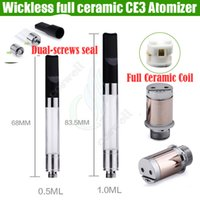 Wholesale Newest full Ceramic Wickless cartridge vaporizer o pen ce3 BUD thick oil cbd vape VAPEN Replacement coil e cig cigarettes atomizer DHL