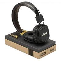 Cheap Free Shipping! Marshall Major headphones With Mic Deep Bass DJ Hi-Fi Headphone HiFi Headset Professional DJ Monitor Headphone