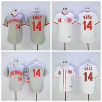 Wholesale Cincinnati Reds Pete Rose Jersey Flexbase Vintage Throwback Pullover White Grey Red Cool Base Cooperstown Jerseys Cheap