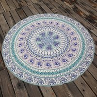 Wholesale Indian Mandala Round Roundie Beach Throw Tapestry Hippy Boho Gypsy100 Polyester Tablecloth Beach Towel