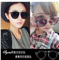 alloy deliver - 2016 ms leisure fashion glasses uv metal half a box of color restoring ancient ways mirrored sunglasses sunglasses delivered free glasses no