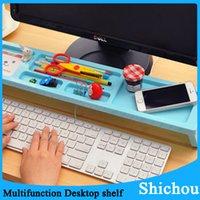 Wholesale New Creative computer desktop keyboard province space arrangement Multi functional office storage rack shelf free dhl