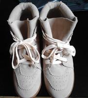 Vraies femmes Prix-22 Couleurs 2016 Bobby Wedge Authentique Real Cuir Femmes Chaussures Décontractées Augmenter Lacing-up Suede Cuir Mode Chaussures Haute Qualité