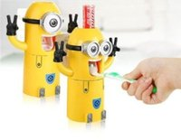 Wholesale New Cute Despicable Me Minions Design Toothpaste Despicable Automatic Dispenser Toothbrush Holder