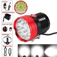 Wholesale 20000 Lumens T6 Bike Light x CREE XM L T6 LED Front Bicycle Light Lamp mah Battery Pack laser rear light