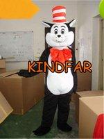 Gros-Dr. Seuss Le Chat dans le Chapeau Mascot Taille Costumes adulte Fancy Dress Outfit Cartoon Suit Free Ship