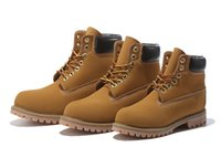 Wholesale Authentic Brand New Classic Fashion Men Inch Premium Boots Waterproof outdoor Wheat Nubuck boots size