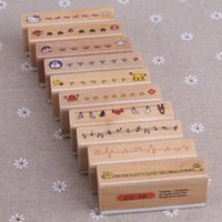 Wholesale Styles Can Chose DIY Photo Album Props Cute Cartoon Wooden Rubber Stamps For Handmade Scrapbook Photo Album