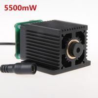Wholesale 5500mW Laser Module Laser Head W DIY Laser nm Blue light w DIY laser head Parts