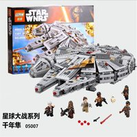 Wholesale Hot new LEPIN Star Wars Millennium Falcon Figure Toys building blocks set marvel minifigures magformers