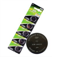 Wholesale Original Product GP CR2025 DL2025 V Lithium Cell Button Coin Battery Batteries free drop shipping with retail package