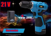 Wholesale 21V Electric Screwdriver Rechargeable Cordless Drill Battery Parafusadeira Furadeira Manual Multi function Power Tools