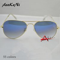 Wholesale Hot Sale Gafas Gradient Gray Blue Brown Style Mirror glass Sun Glasse oculos de sol FEMININO UV400 Men Women Sunglasses mm mm with case