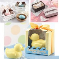Wholesale Wedding Gifts Wedding Favors Duck Birds Love Toilet soap Wedding Supplies Gift box Packaging for party gift Z508