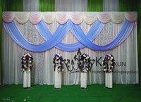 Precio de Cielo azul de la tela de lentejuelas-* 3M 6M contexto de la boda cortina blanca con el cielo azul Swag de caída y de lentejuelas Tela