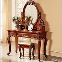 antique mirror dressing table - European mirror table antique bedroom dresser French furniture french dressing table pfy801
