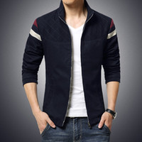 mens clothing - 2016 New Fashion Brand Jacket Men Trend Patchwork Korean Slim Fit Mens Designer Clothes Cotoon Men Casual Jacket Slim XL XL