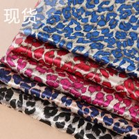 Wholesale Leopard Printing Satin Cloth for Dress ribbon scarf hat and Shoes