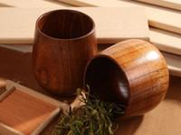 Wholesale New Primitive Handmade Natural Spruce Wood Wooden Cup Mug Breakfast Beer Milk cm x cm Kitchen Accessories160414