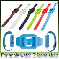 Wholesale New For Apple Watch Silicone Strap Case mm mm Dustproof Soft Rubber Watch Band with Metal Buckle iWatch Cover DHL pieces