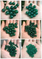 Wholesale Cheap Lucky Natural Stone Charm Round Loose Green Agate Beads Bracelet Necklace Buddhist Healing Jewelry for DIY Valentine s Day
