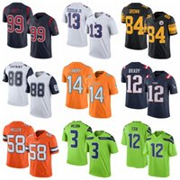 Wholesale Rush Football Jerseys Cowboy Bryant Texans Watt Cowboys Ezekiel Elliott Football Jerseys Brand Football Uniform Hot Sale