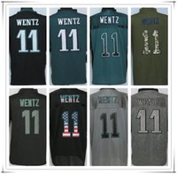 american football eagles - 2017 Stitched New Eagle WENTZ Football Jersey ALL Collections Drift Fashion Lights Out Impact Flag Salute to service American Rush type