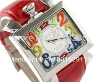 avant garde watches - 2016 Fashion Multicolour figures gaga milano watch the avant garde square dial unisex gaga watches