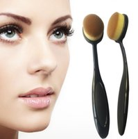 Wholesale Oval Brush Foundation Brushes Make up Cosmetic Cream Powder Blush Oval Toothbrush BB Cream Powder Blush Makeup Tools