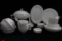 dinner sets fine china - Dinner set Tableware ceramic porcelain Korean flower pieces fine bone China gift elegent Trendstyle pastoral banquet buffet gold rim